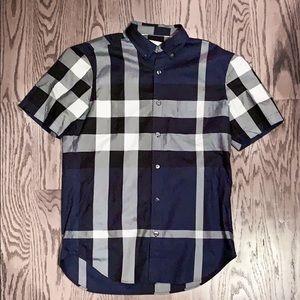 Burberry Short-Sleeve Button Down Shirt